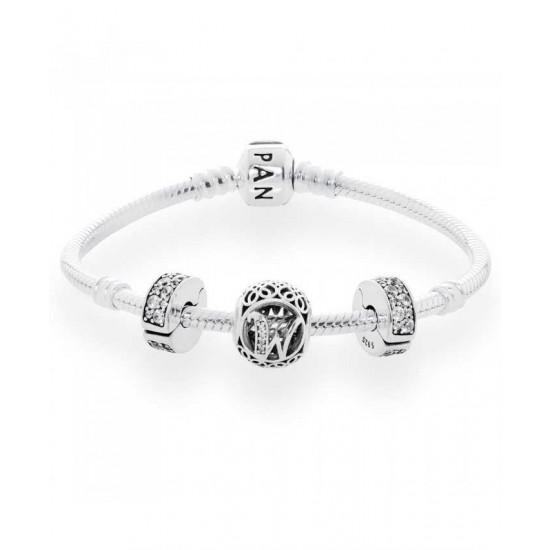Pandora Bracelet-Vintage W Complete Jewelry