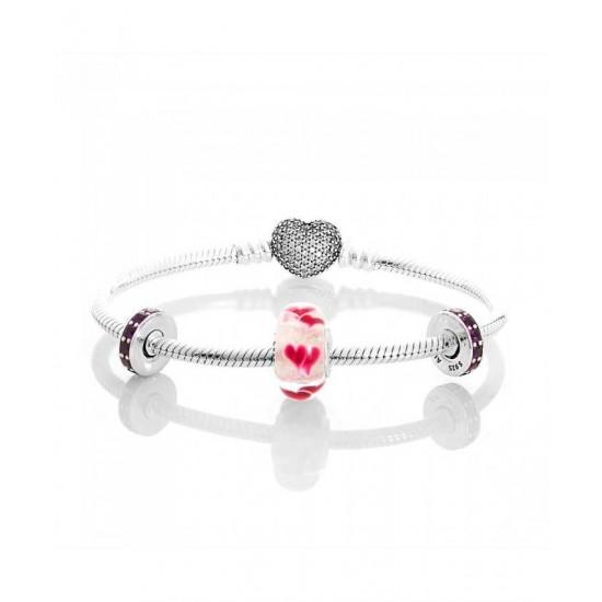 Pandora Bracelet-Wild Hearts Complete Jewelry Outlet Online