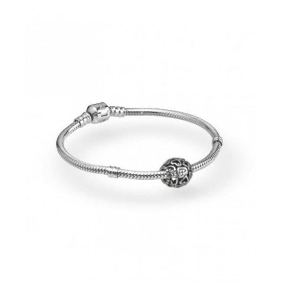 Pandora Bracelet-Openwork Heart Complete Jewelry