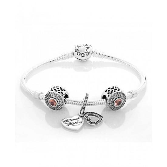 Pandora Bracelet-Silver Beloved Moments Complete Jewelry