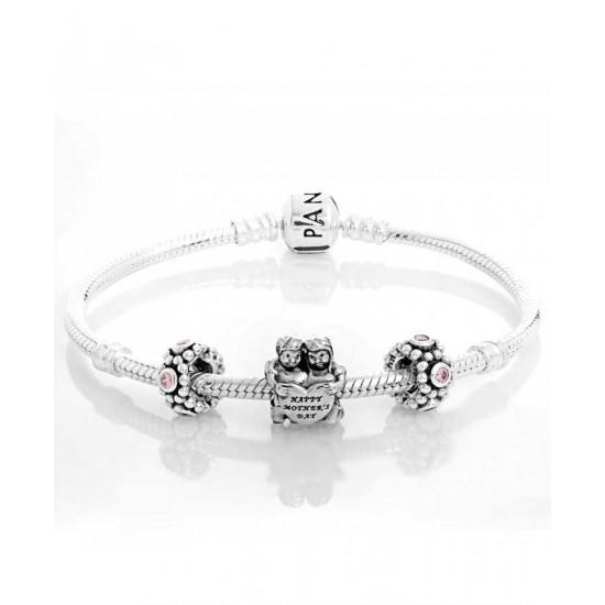Pandora Bracelet-Silver Dear Mother Complete Jewelry