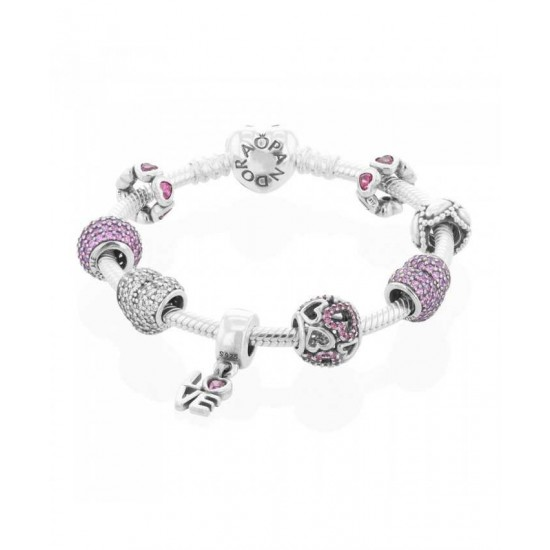 Pandora Bracelet-Valentines Complete Jewelry