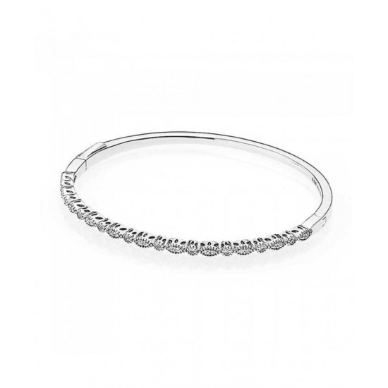 Pandora Bangle-Silver Cubic Zirconia AlluRing Jewelry