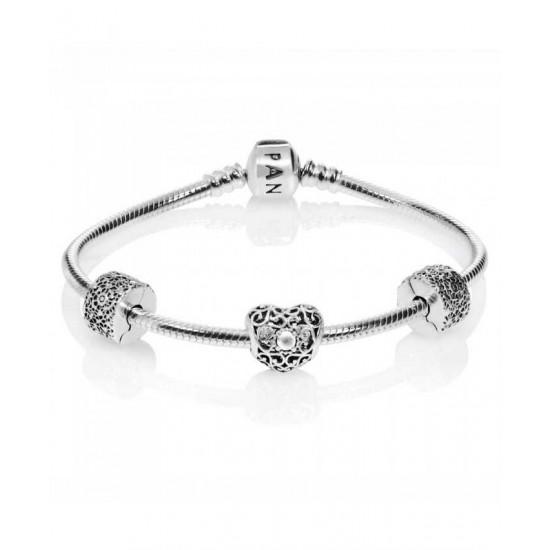 Pandora Bracelet-April Birthstone Complete Jewelry