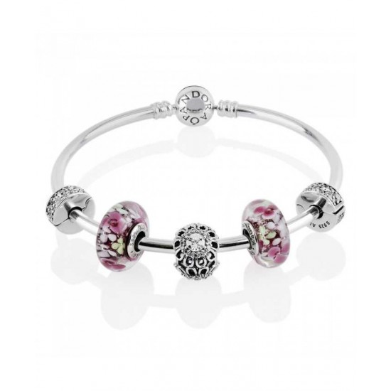 Pandora Bracelet-Flower Garden Complete Bangle Jewelry