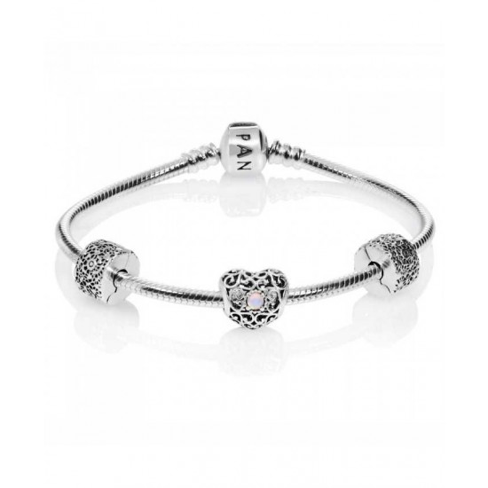 Pandora Bracelet-October Birthstone Complete Jewelry