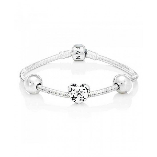 Pandora Bracelet-Starry Heart Bundle Jewelry