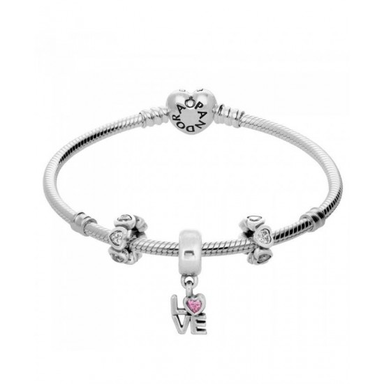 Pandora Bracelet-Sweet Love Complete Jewelry
