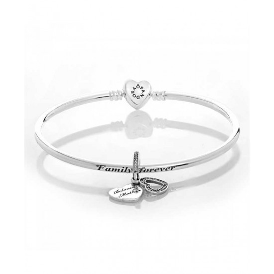 Pandora Bangle-Silver Beloved Mother Complete Jewelry