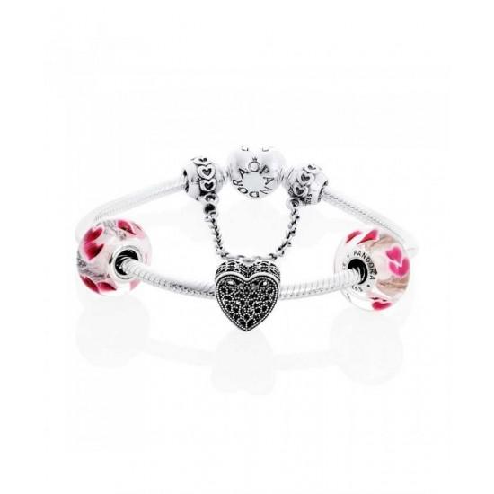 Pandora Bracelet-Amazed By Love Complete Jewelry
