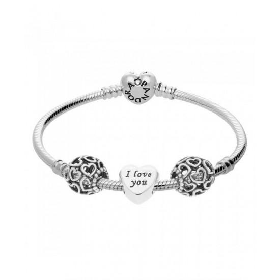 Pandora Bracelet-I Love You Complete Jewelry