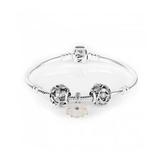 Pandora Bracelet-Luminous Floral Complete Jewelry