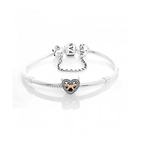 Pandora Bracelet-Silver Bound By Love Complete Jewelry