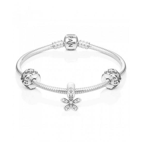Pandora Bracelet-Silver Daisy Bundle Jewelry