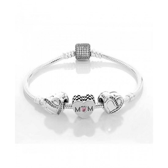 Cheap Pandora Bracelet-Silver Mothers Love Complete Jewelry