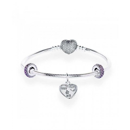 Pandora Bracelet-Tender Love Complete Sale Jewelry