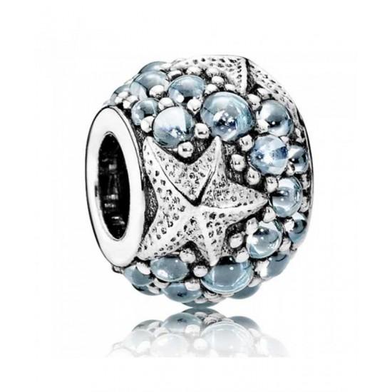 Pandora Charm-Oceanic Blue Starfish Sterling Silver Jewelry
