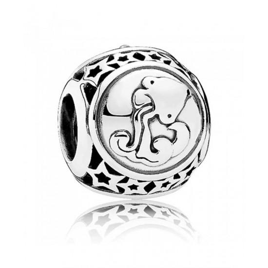Pandora Charm-Silver Aquarius Star Sign Jewelry