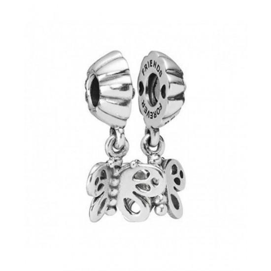 Pandora Charm-Silver Butterflies Split Bead Jewelry
