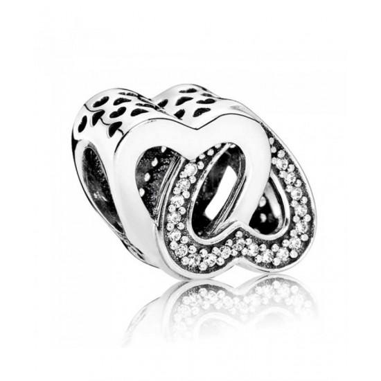 Pandora Charm-Silver Cubic Zirconia Entwined Love Jewelry