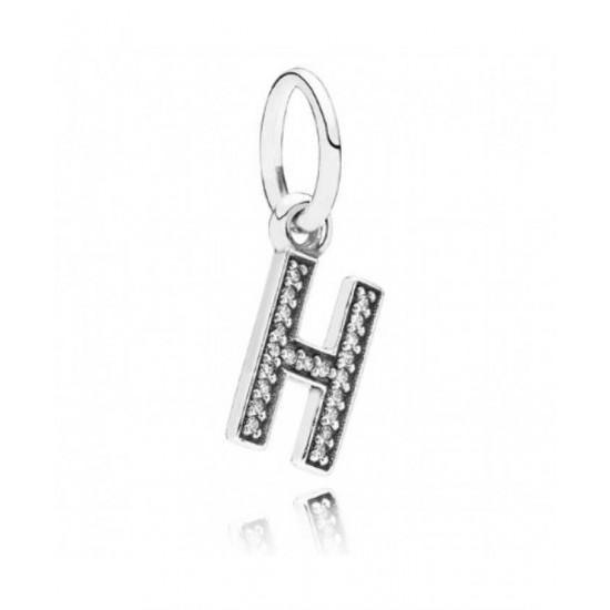 Pandora Charm-Sparkling Alphabet H Pendant Jewelry