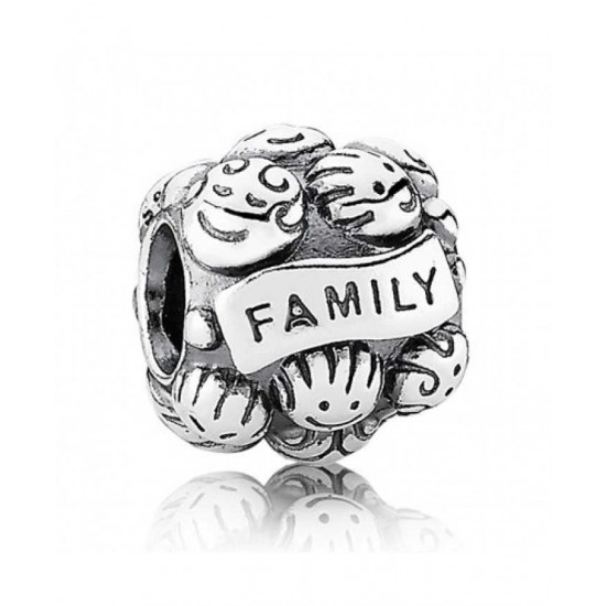 Pandora Charm-Sterling Silver Family Love Jewelry