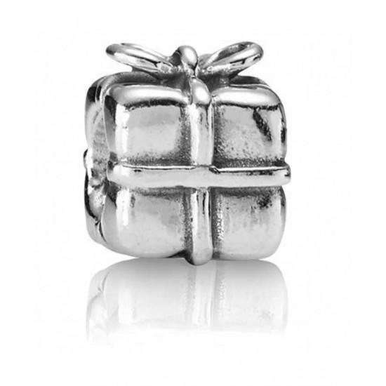 Pandora Charm-Sterling Silver Present Bead Jewelry