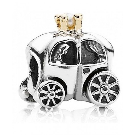 Pandora Charm-14ct Gold And Silver Carriage Bead Jewelry