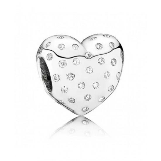Pandora Charm-British Heart Foundation Cubic Zirconia Heart Jewelry