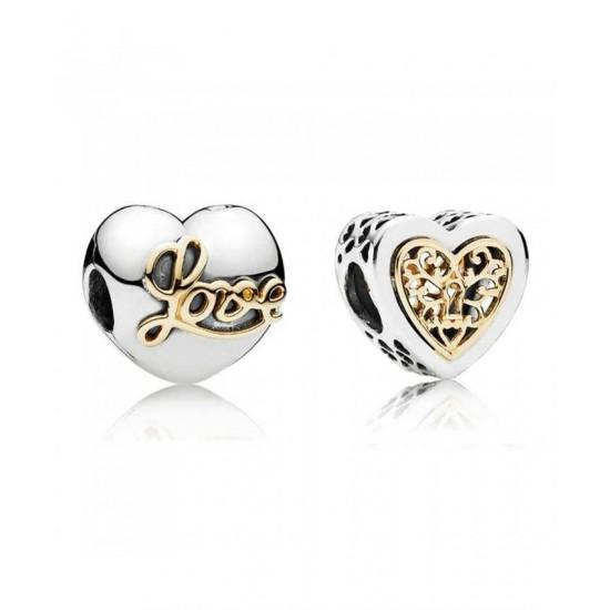 Pandora Charm-Locked Hearts Jewelry Sale Cheap