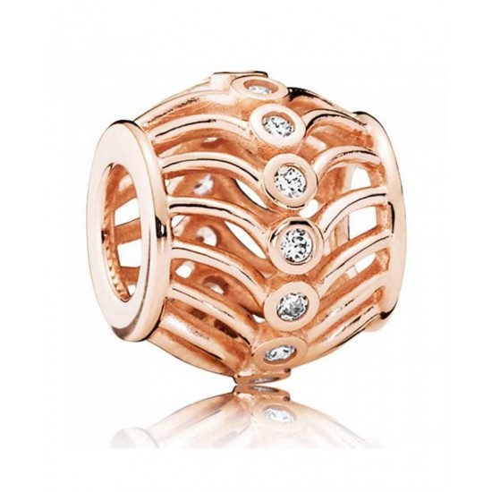 Pandora Charm-Rose Art Deco Jewelry