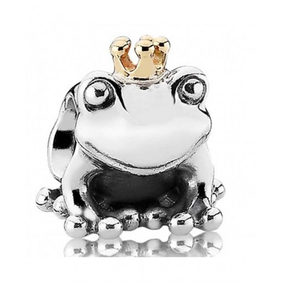 Pandora Charm-Silver 14ct Frog Prince Jewelry