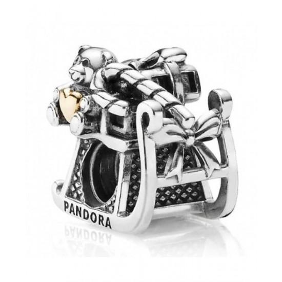 Pandora Charm-Silver 14ct Gold Sleigh Bead Jewelry