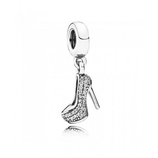 Pandora Charm-Silver Cubic Zirconia Sparkling Stiletto Dropper Jewelry