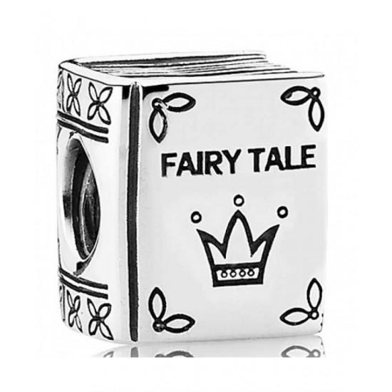 Pandora Charm-Silver Fairytale Book Jewelry
