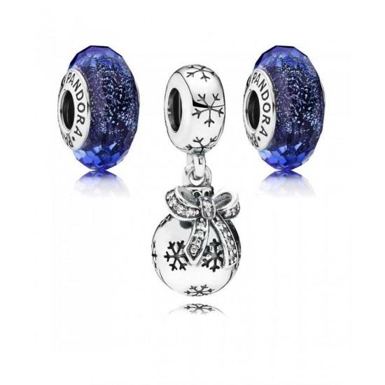 Pandora Charm-Iridescent Christmas Bauble Jewelry