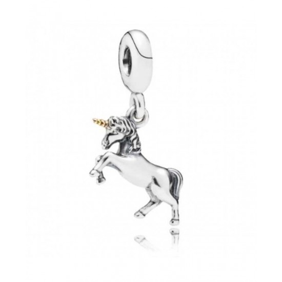 Pandora Charm-Silver 14ct Gold Unicorn Pendant Jewelry