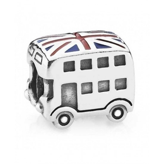 Pandora Charm-Silver Best Of British London Bus Bead Jewelry