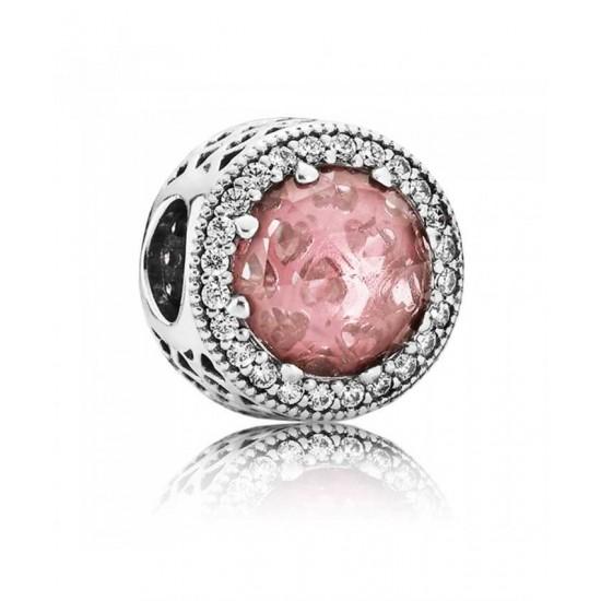 Pandora Charm-Silver Blush Pink Radiant Hearts Jewelry