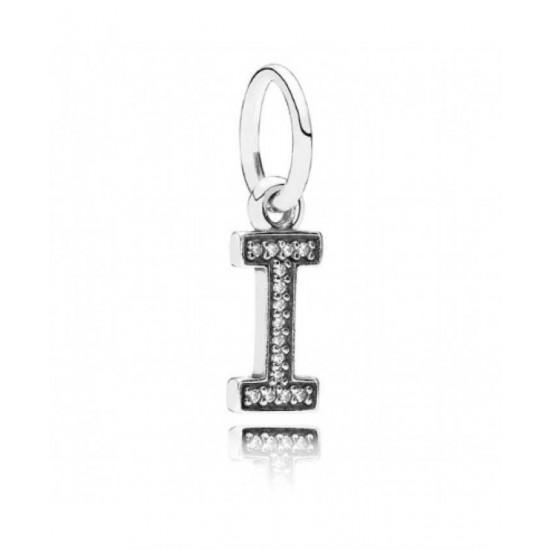 Pandora Charm-Sparkling Alphabet I Pendant Jewelry