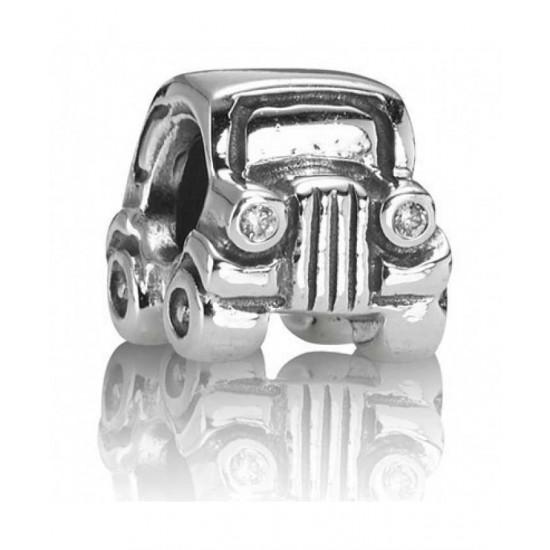 Pandora Charm-Silver Cz Car Bead Jewelry