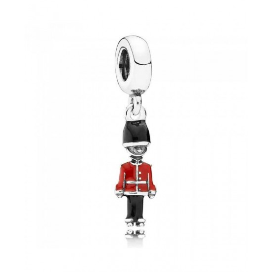 Pandora Charm-Silver Enamel Toy Soldier Dropper Jewelry