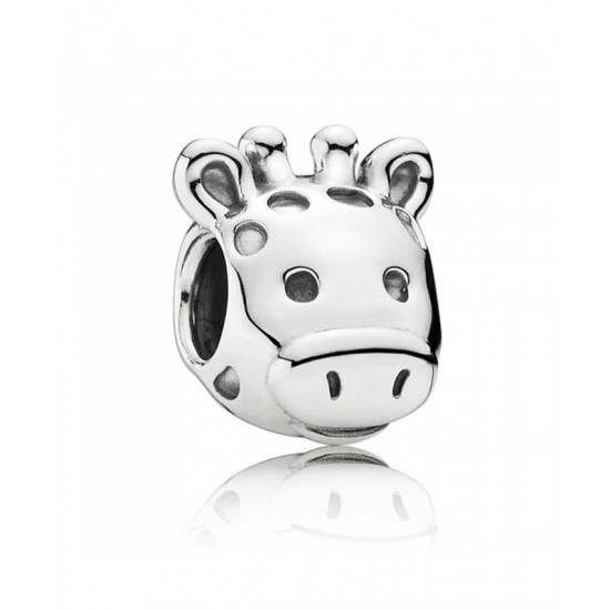 Pandora Charm-Silver Gorgeous Giraffe Jewelry