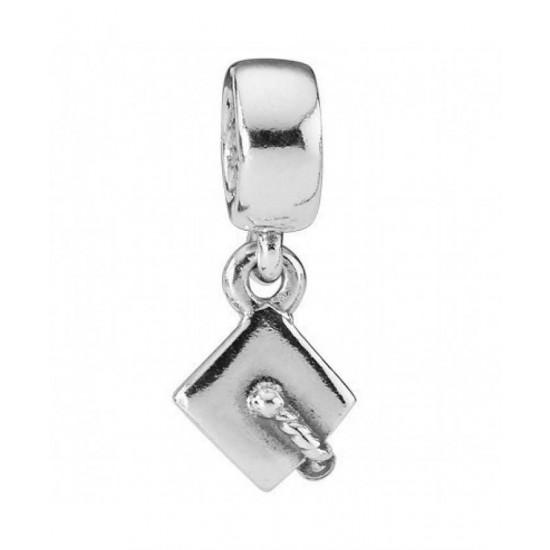 Pandora Charm-Silver Mortar Board Bead Jewelry