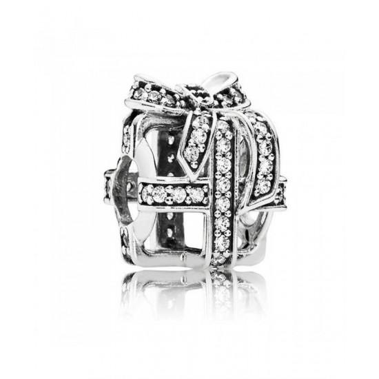 Pandora Charm-Silver Openwork Cubic Zirconia Gift Jewelry