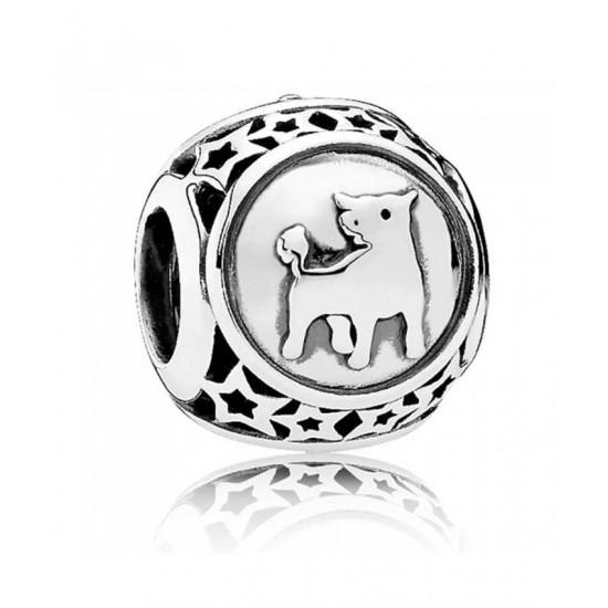 Pandora Charm-Silver Taurus Star Sign Jewelry