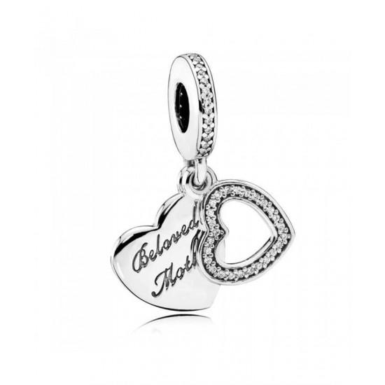 Pandora Charm-Silver Beloved Mother Pendant Jewelry