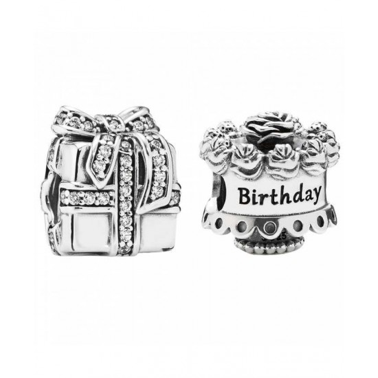 Pandora Charm-Silver Birthday Surprises Jewelry