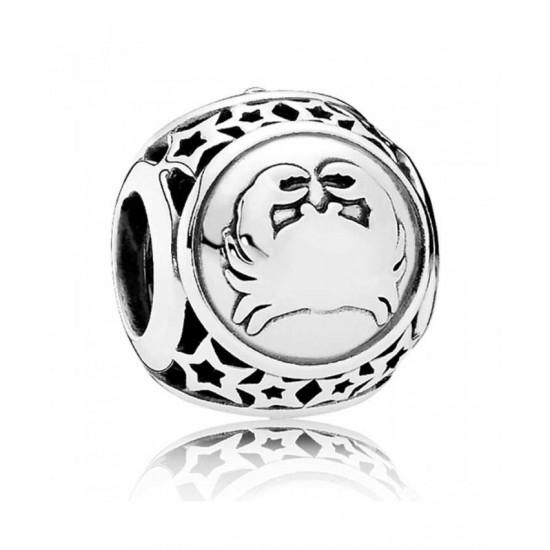 Pandora Charm-Silver Cancer Star Sign Jewelry