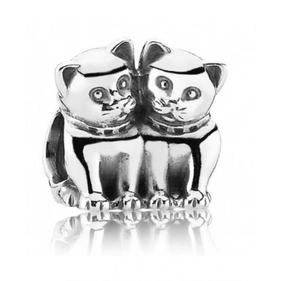 Pandora Charm-Silver Cats Jewelry